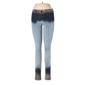 Level 99 Blue Ombre Animal Print Skinny Jeans